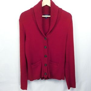 CHAPS by Ralph Lauren Pleated Cardigan